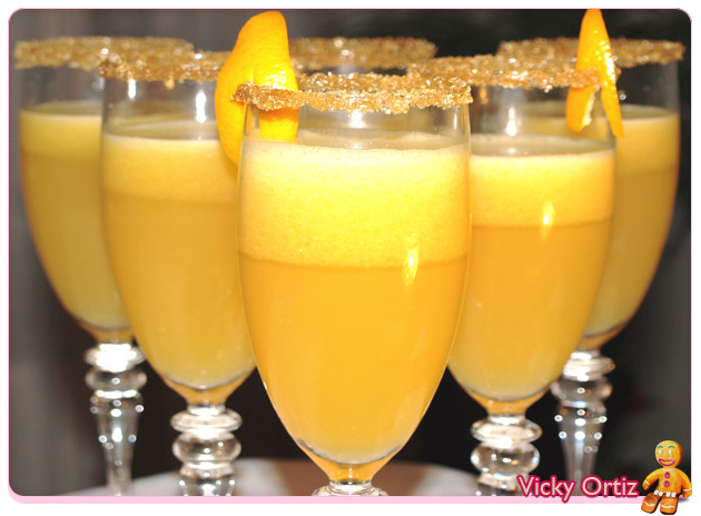 Sorbete de naranja y doce uvas de la suerte sucre art - Como hacer sorbete de cava ...