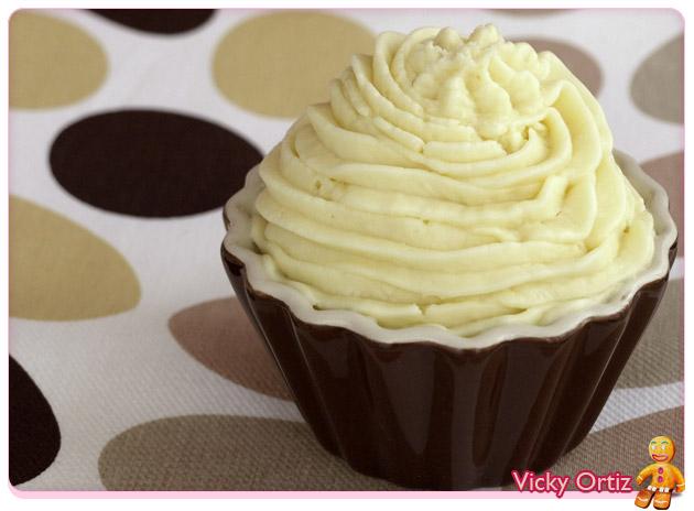 Ganache De Chocolate Blanco Decoracion De Cupcakes Sucre Art