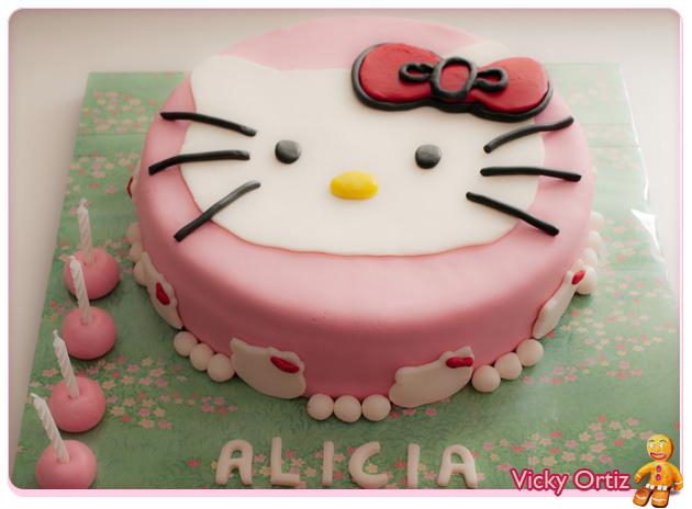 ... con el post de cómo hacer una tarta decorada con fondant, paso a paso