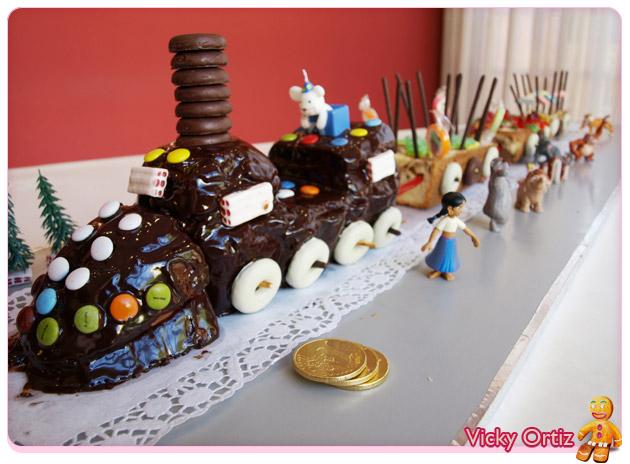 Plum cake Tarta Tren del circo Sucre Art